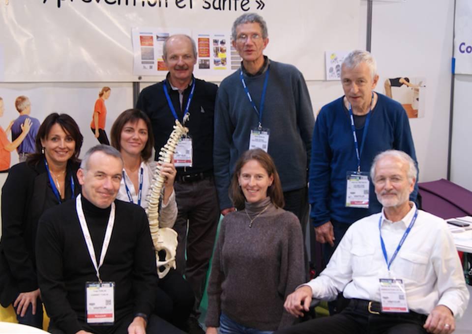 Les kinési-préventeurs Rhônes Alpes sur le stand KFP Préventica Lyon 2015